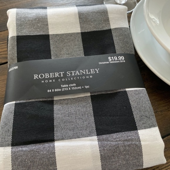 Robert Stanley Home Collection Christmas 2020 Robert Stanley Home Collection Dining | Black And White Checkered